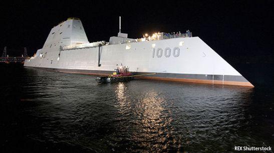 Tàu khu trục tàng hình hạng Zumwalt mới nhất của Mỹ